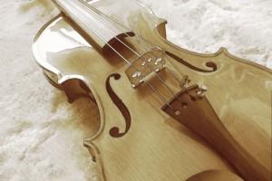 古めかしいバイオリン