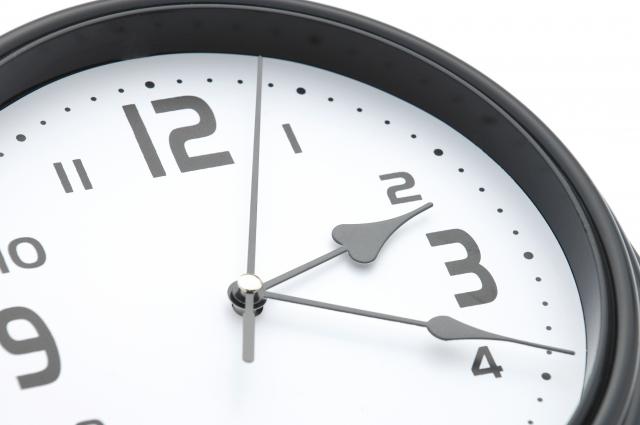 時間を刻む一般的な時計