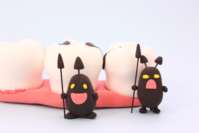歯茎の周りで暴れまわる虫歯菌