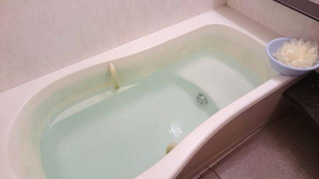 お湯の入ったお風呂