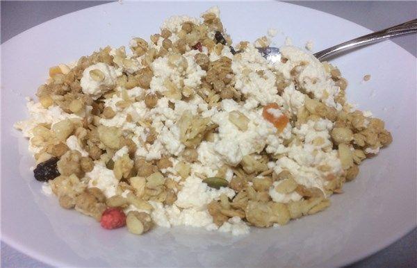豆腐とフルグラのコラボ