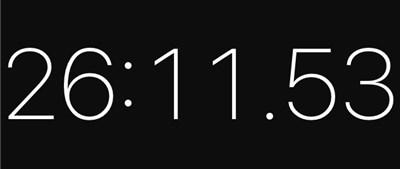 圧縮時間のストップウォッチ表示1